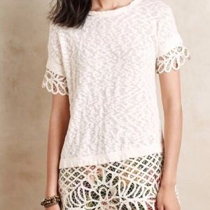 ANTHROPOLOGIE SATURDAY SUNDAY SPALLIERA LACE TUNIC